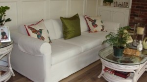 Couch Slip Cover & Cushions